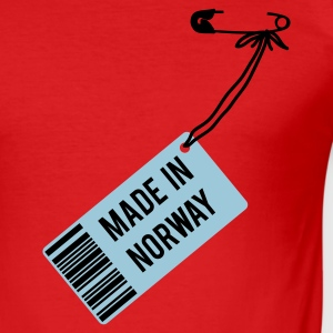 Rot Made in Norway T-Shirts - Männer Slim Fit T-Shirt
