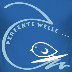 TWEETLERCOOLS - PERFEKTE WELLE - Männer Slim Fit T-Shirt