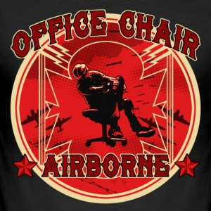 Black Office Chair Airborne Men's T-Shirts - Men's Slim Fit T-Shirt