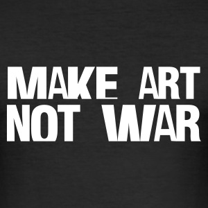 Nero make art not war T-shirt - Maglietta aderente da uomo