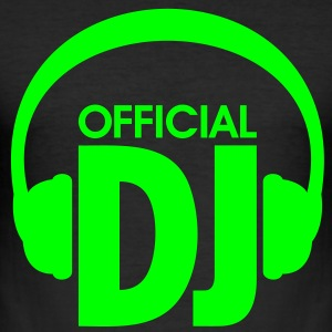 Official DJ, Hovedtelefoner - Officiel DJ. Techno  T-shirts - Herre Slim Fit T-Shirt