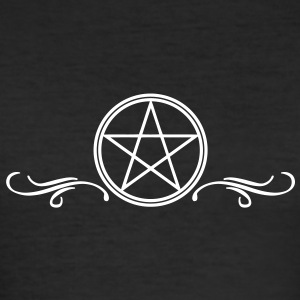 pentagram witch wicca gothic Tee shirts - Tee shirt près du corps Homme