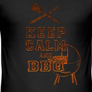 Keep Calm and BBQ T-Shirts - Men's Slim Fit T-Shirt