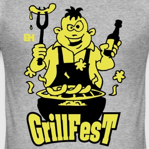 GrillFest T-shirts - Herre Slim Fit T-Shirt