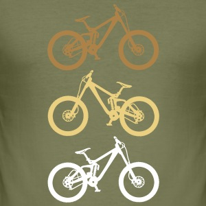 dirt bike 3er - Männer Slim Fit T-Shirt