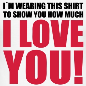 I love You Jeg elsker deg! My Boyfriend Girlfriend T-skjorter - Slim Fit T-skjorte for menn