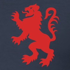 Dark navy Red Lion Rampant Men's T-Shirts