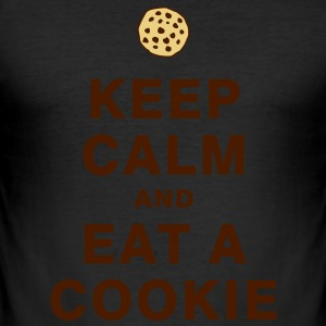 KEEP CALM AND EAT A COOKIE T-Shirts - Men's Slim Fit T-Shirt