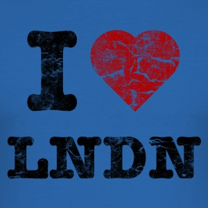 I Love LoNDoN vintage dark T-Shirts - Men's Slim Fit T-Shirt