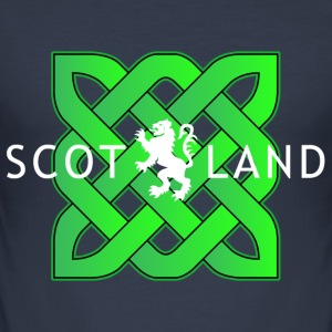 Green Celtic Knot Scotland shirt - Men's Slim Fit T-Shirt