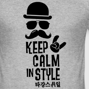 Like a keep calm in style bigote boss Camisetas - Camiseta ajustada hombre