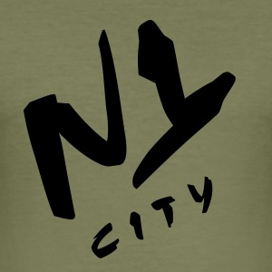 n_y_city_vec_3 T-Shirts - Männer Slim Fit T-Shirt