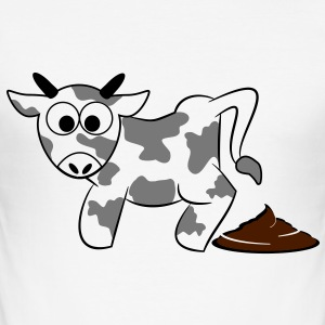 Mr. moo ko lort lort Cowpats 3 c. T-shirts - Herre Slim Fit T-Shirt