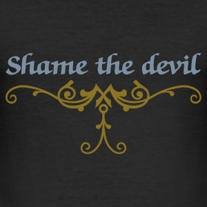 Sort shame the devil (1c) T-shirts - Herre Slim Fit T-Shirt