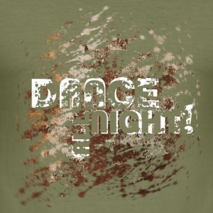 dance all night | Tanzshirts   T-Shirts - Maglietta aderente da uomo
