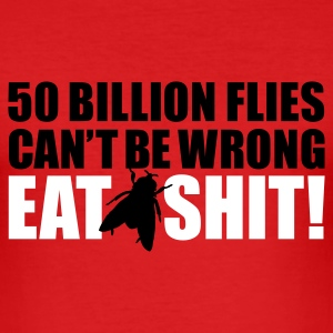 Rood Eat shit! T-shirts - slim fit T-shirt