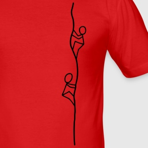 Two climbers T-Shirts - Men's Slim Fit T-Shirt