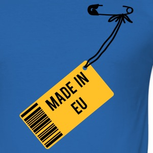Royalblau Made in EU T-Shirt T-Shirts - Männer Slim Fit T-Shirt