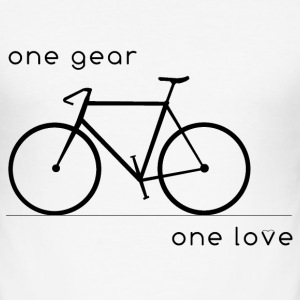 one gear_one love - Männer Slim Fit T-Shirt