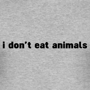 Grau meliert i don't eat animals T-Shirts - Männer Slim Fit T-Shirt
