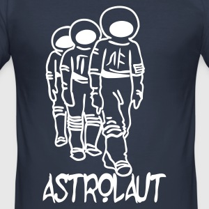 Dark navy Astrolaut Records T-Shirts - Männer Slim Fit T-Shirt