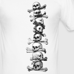 Skull chain T shirt   - Men's Slim Fit T-Shirt