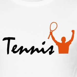 Weiß Tennis T-Shirts - Männer Slim Fit T-Shirt