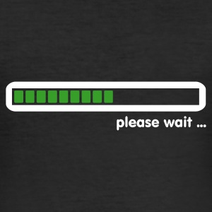 Schwarz loading ... please wait (2c) T-Shirts - Männer Slim Fit T-Shirt
