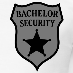 Enblem Bachelor Security. Officiële Crew Bruidegom T-shirts - slim fit T-shirt