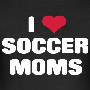 i love soccer moms T-Shirts - Männer Slim Fit T-Shirt