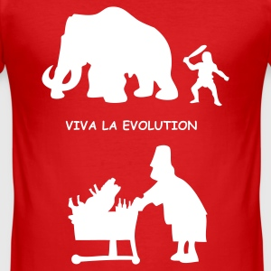 Rot viva la evolution 1 T-Shirts - Männer Slim Fit T-Shirt