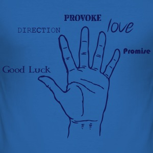 Hand, Luck, Way, Provoke, Love Tee shirts - Tee shirt près du corps Homme