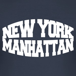 Navy new york manhattan T-shirts - Tee shirt près du corps Homme