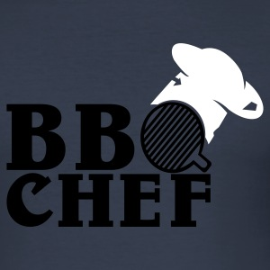 Dark navy bbqchef1 T-Shirts - Männer Slim Fit T-Shirt