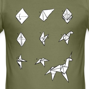 Origami Unicorn (inspired by Blade Runner) - Men's Slim Fit T-Shirt