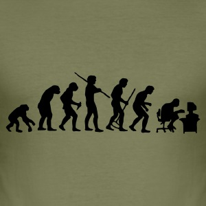 Olive Evolution T-Shirts - Männer Slim Fit T-Shirt