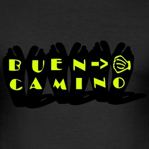 Buen Camino pilgrimage Men's Slim Fit T-Shirt - Men's Slim Fit T-Shirt