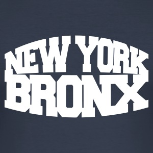 Navy new york bronx T-Shirts - Männer Slim Fit T-Shirt