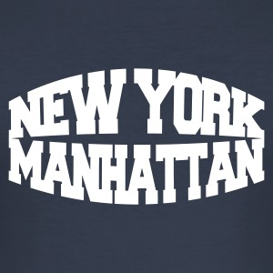 Navy new york manhattan T-Shirts - Männer Slim Fit T-Shirt