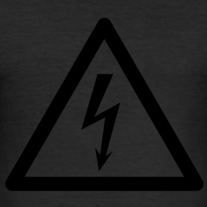 Hazard Symbol - High Voltage T-Shirts - Men's Slim Fit T-Shirt