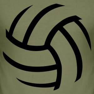 Volleyball - Männer Slim Fit T-Shirt