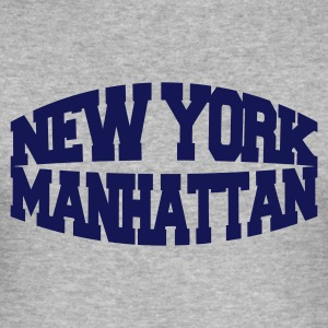 Heather grey new york manhattan Men's T-Shirts - Men's Slim Fit T-Shirt