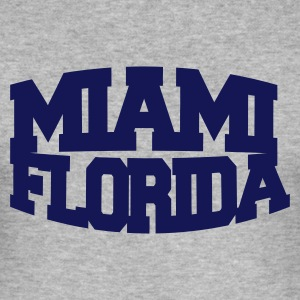 Heather grey miami florida Men's T-Shirts - Men's Slim Fit T-Shirt