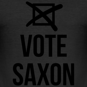 Vote Saxon T-Shirts - Men's Slim Fit T-Shirt