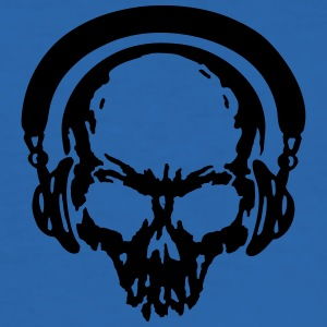 skull Headphone dj music T-Shirts - Men's Slim Fit T-Shirt