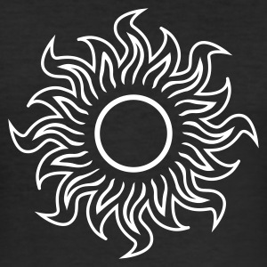 Svart black hole sun (dark) - svart sol T-shirts - Slim Fit T-shirt herr