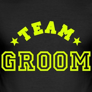team groom T-shirts - Slim Fit T-shirt herr