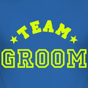 team groom T-skjorter - Slim Fit T-skjorte for menn
