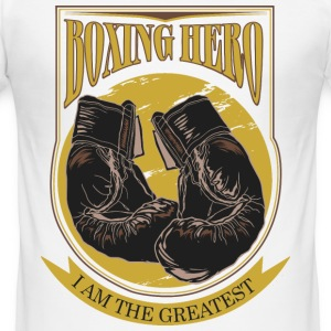 Boxing Hero - The Greatest  T-shirts - Slim Fit T-shirt herr