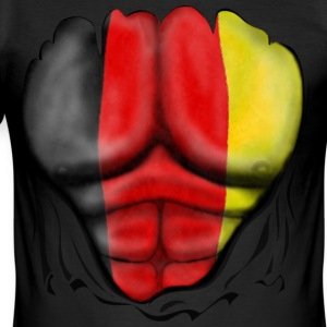 Germany Flag Ripped Muscles six pack chest t-shirt - Men's Slim Fit T-Shirt